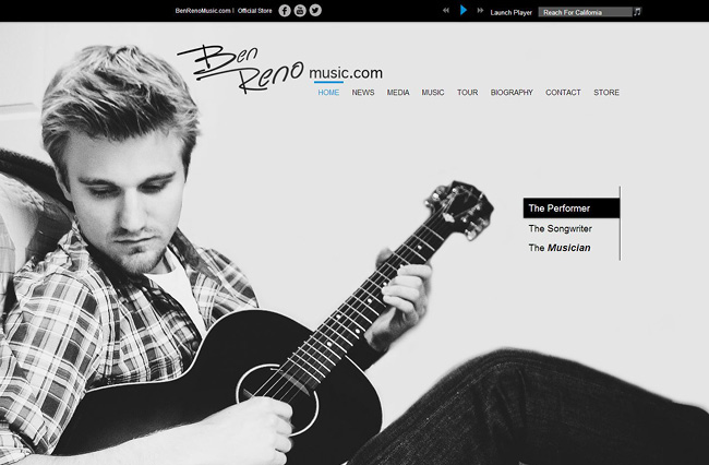 Site Wix : Ben Reno Music