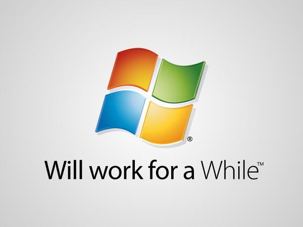 Parodie du logo de windows