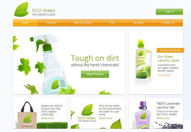 Template Wix Nettoyage écologique