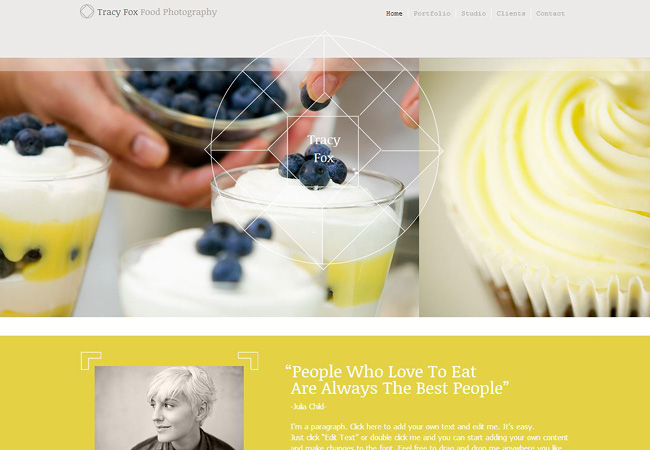 Template Wix Photographe culinaire