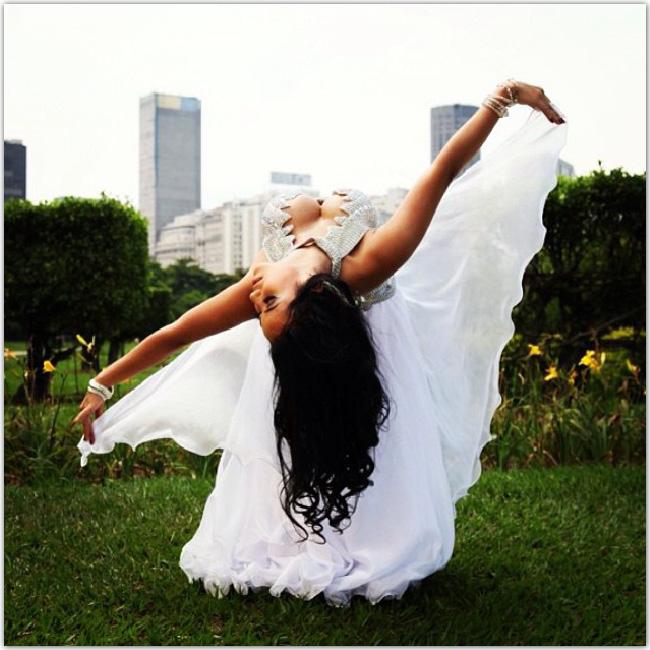 Danseuse de dos