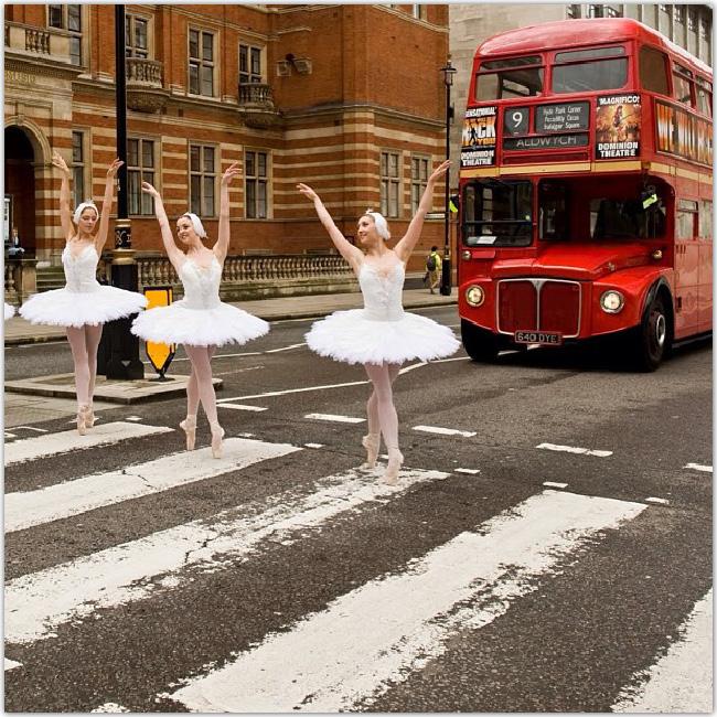 Danseuses étoile dans la rue