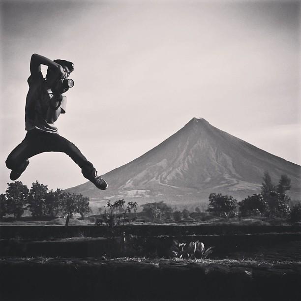 Photographe en l'air