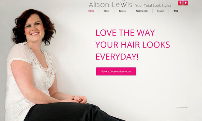 Site Alison Lewis Hair