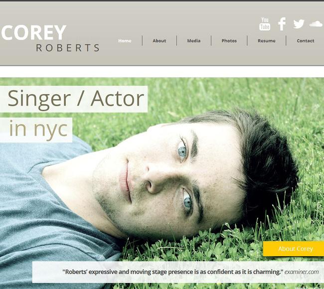 Site de Corey Roberts