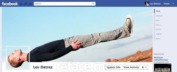 Photo de couverture Facebook d'une personne en apesanteur