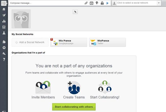 Capture d'écran de Hootsuite
