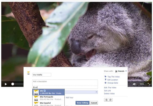 Capture d'écran d'une identification sur une vidéo