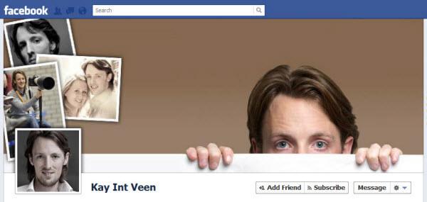 Photo de couverture Facebook qui présente une personne par le biais de ses propres photos