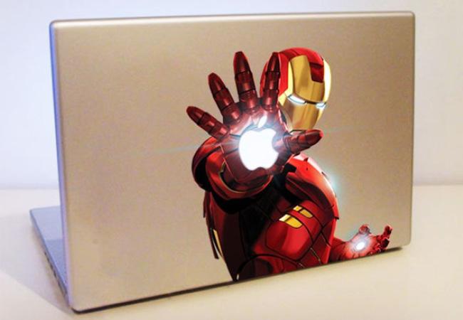 Autocollant Iron Man pour Mac