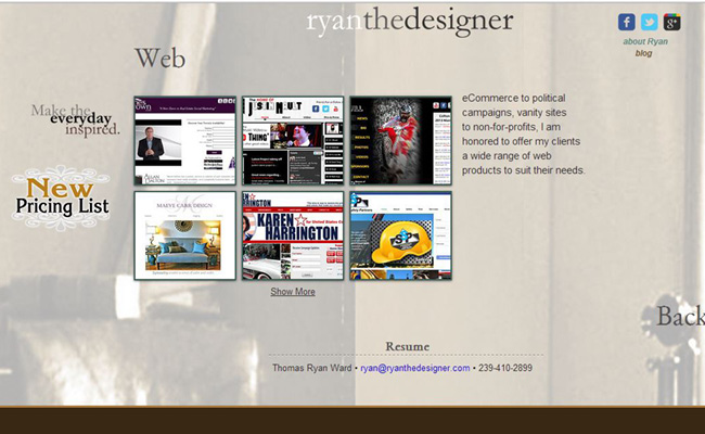 Site Web de ryan the designer