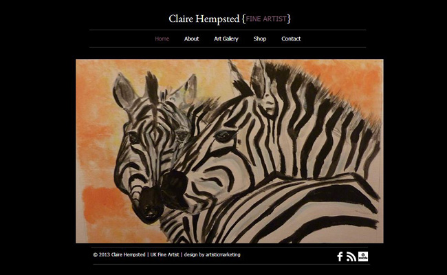 Site Web de Claire Hempsted créé par artisticmarketing