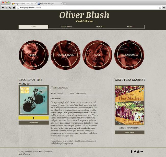 Capture d'écran du template Record Collector