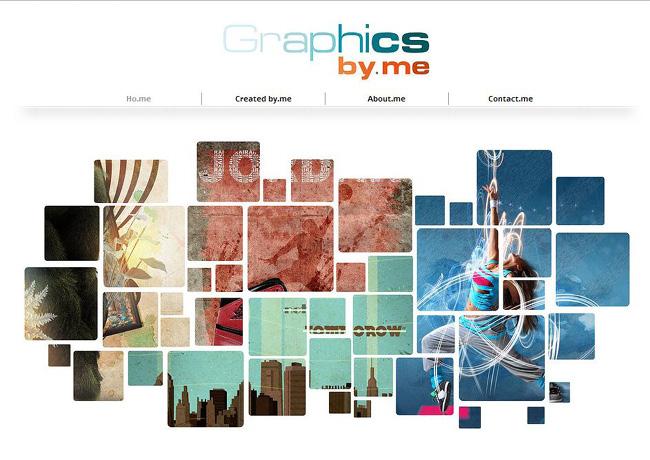 Page d'accueil du site Graphics By.me