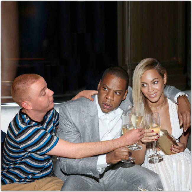 Peejet avec Beyonce et Jay-Z