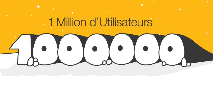 1 million d'utilisateurs