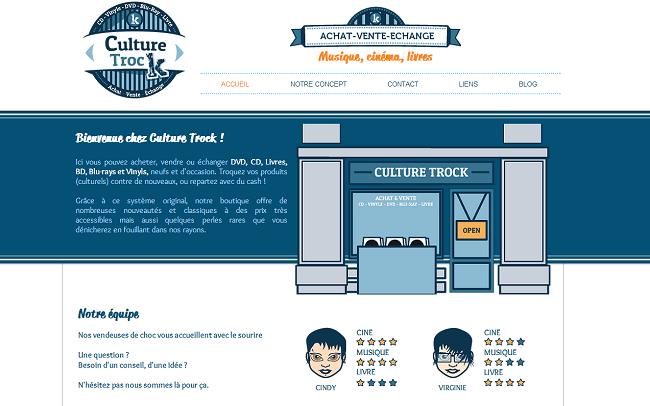 Capture d'écran du site Culture Trock