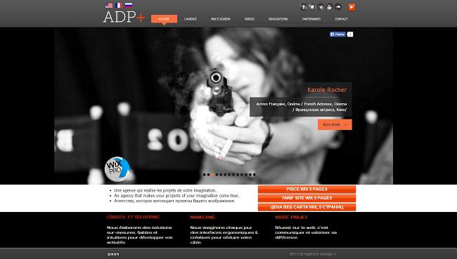 Site d'ADP - Agence Design Plus