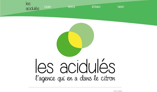 Site de l'agence de communication - les acidulés