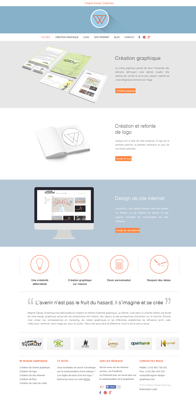 Capture d'écran du site design graphique