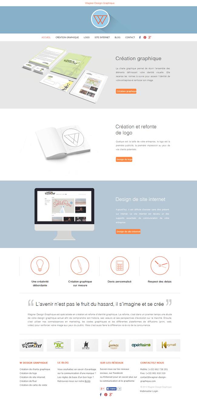 Site Wagner Design Graphique