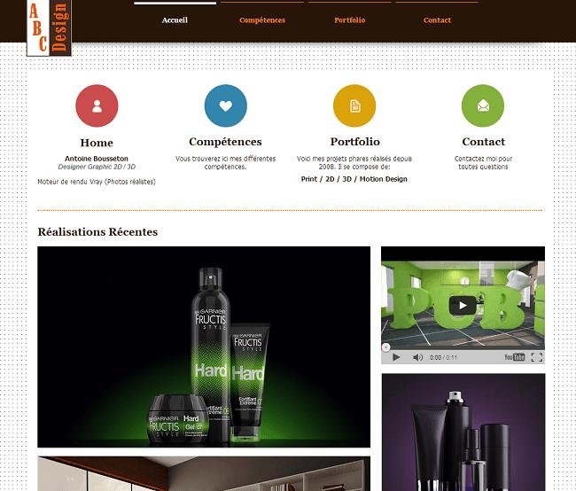 Site du ABC Design - Communication visuelle