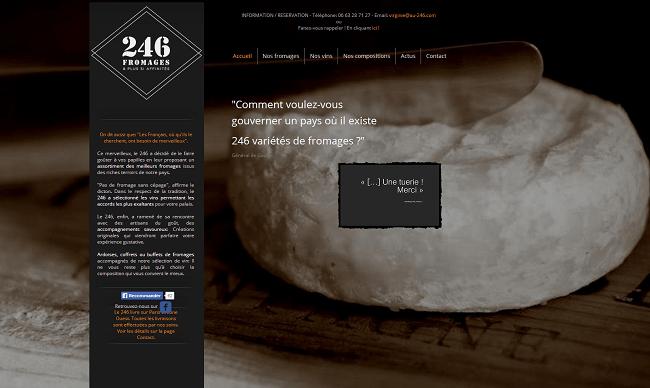 Capture d'écran de la page d'accueil du site au 246.com