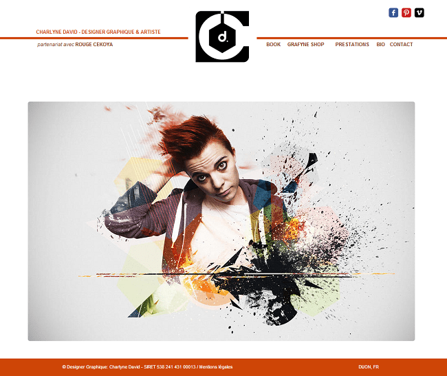 Site de Charlyne David - Designer graphique et artiste