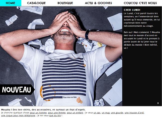 Capture d'écran du site Mouhaha