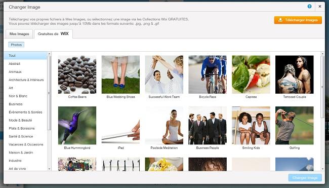 Capture d'écran du gestionnaire d'images