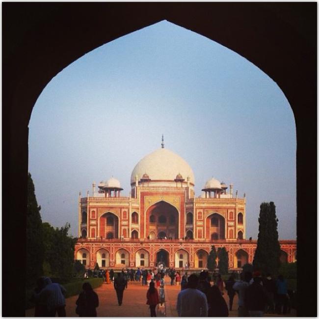 Photo prise Inde de la tombe de Humayun