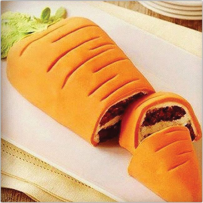 Photo de gâteau en forme de carotte
