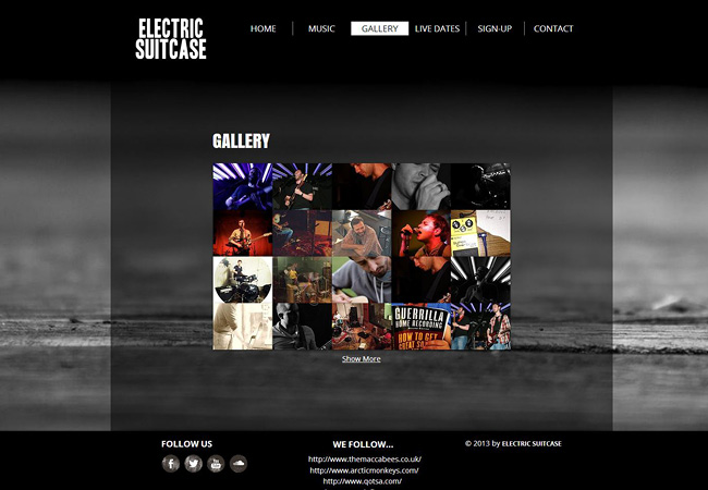 Site de musique Electric suitcase