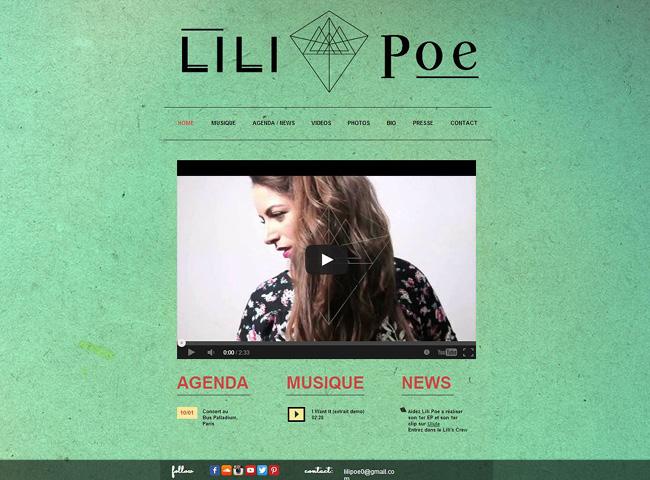 Site de musique Lili Poe