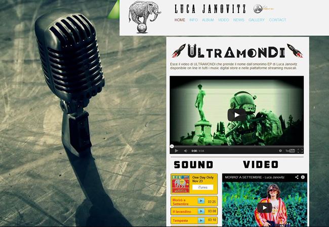 Site de musique Luca Janovitz