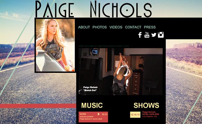 Site de musique de Paige Nichols