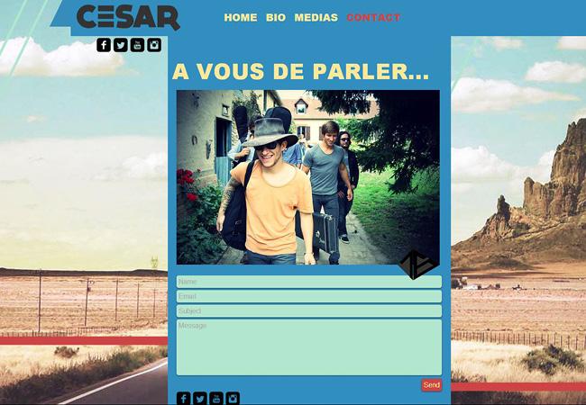 Site de musique César