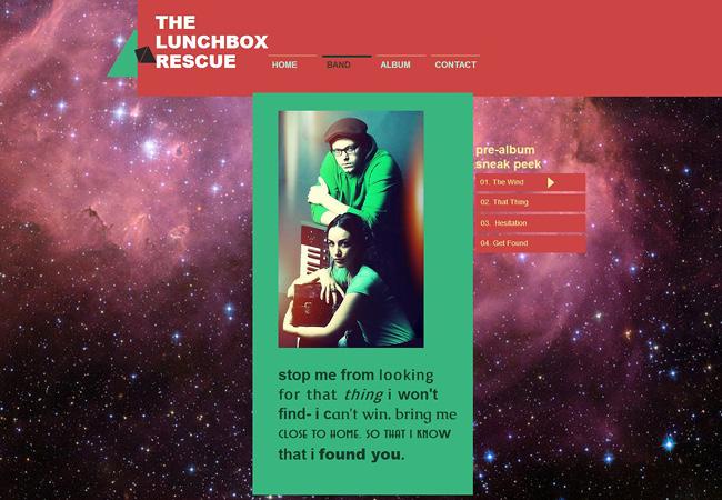 Site de musique The Lunch Box Rescue