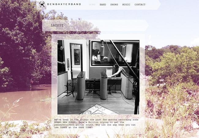 Site de musique Ben Baxter Band
