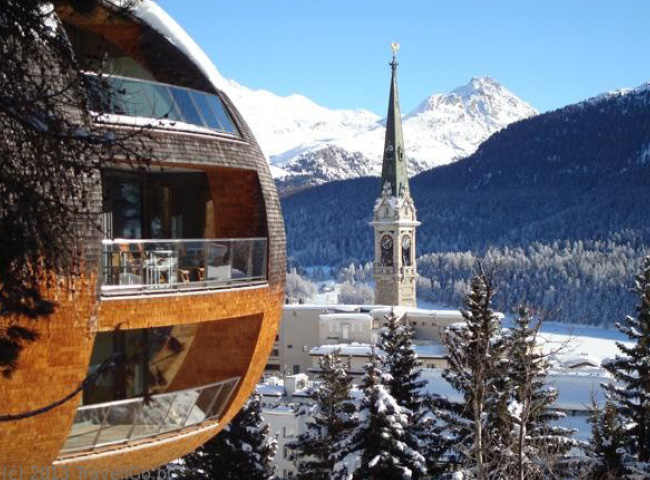 Photo de la station de Saint-Moritz - Suisse