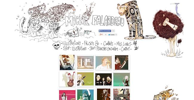 Site de Michel Falardeau - illustrateur