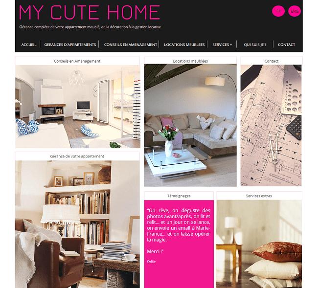 Site : My Cute Home - Gestion immobilière et Décoration : Morges Lausanne