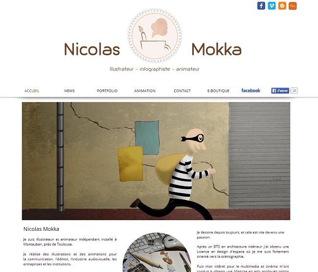 Site de Nicolas Mokka - Illustrateur graphiste Montauban