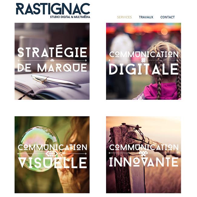 Site Studio Rastignac   Agence de Communication   Besançon Franche Comté
