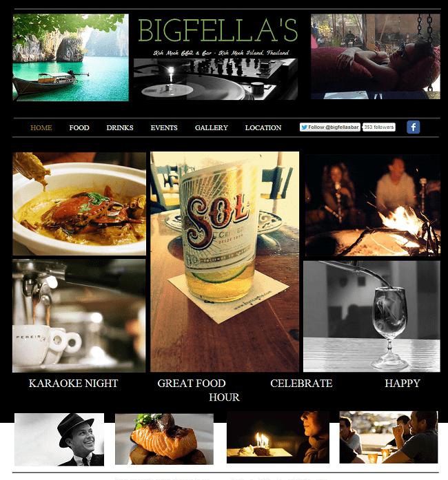 Site : Bigfella's - Thaïlande