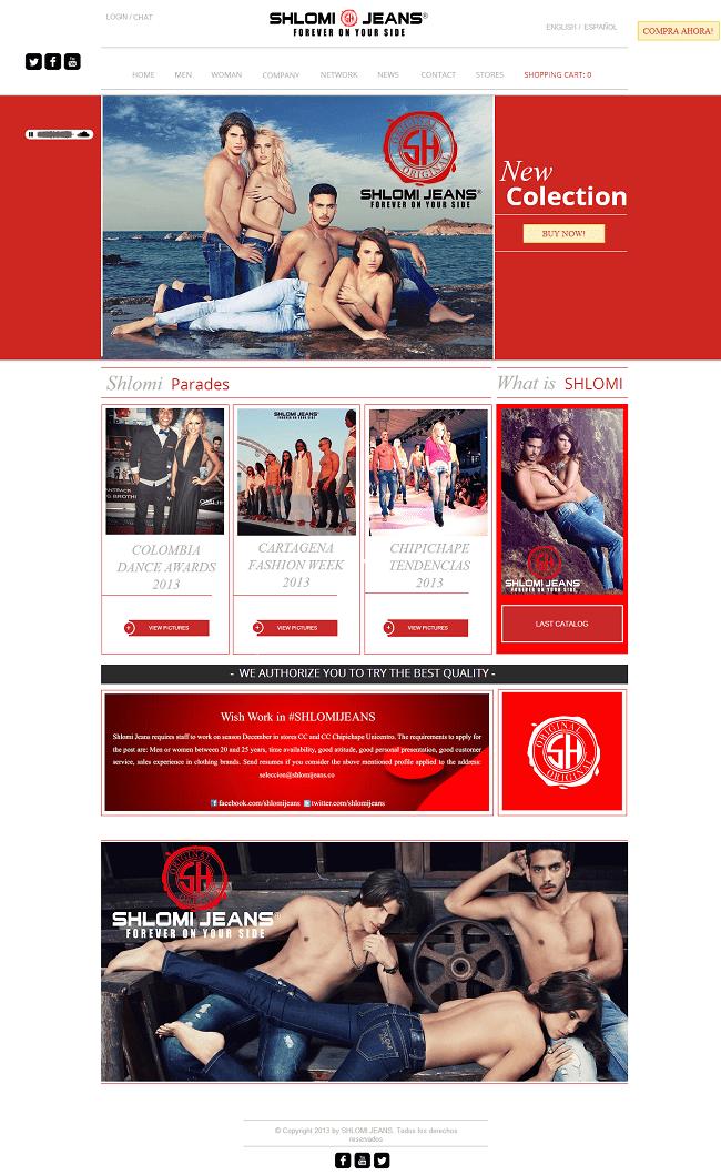 Site : Slomi Jeans - Colombie