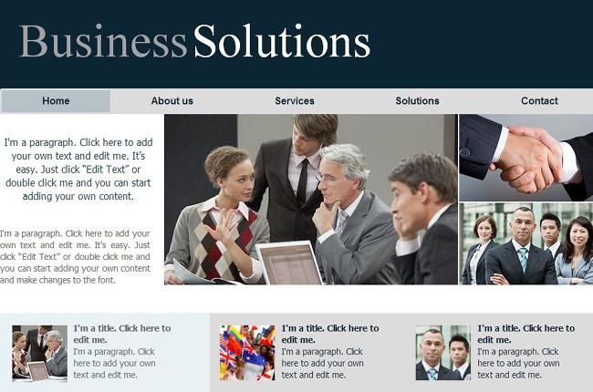 Template Wix pour entreprises traditionnelles - consultants, avocats etc.