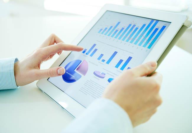 Stats affichés sur une tablette