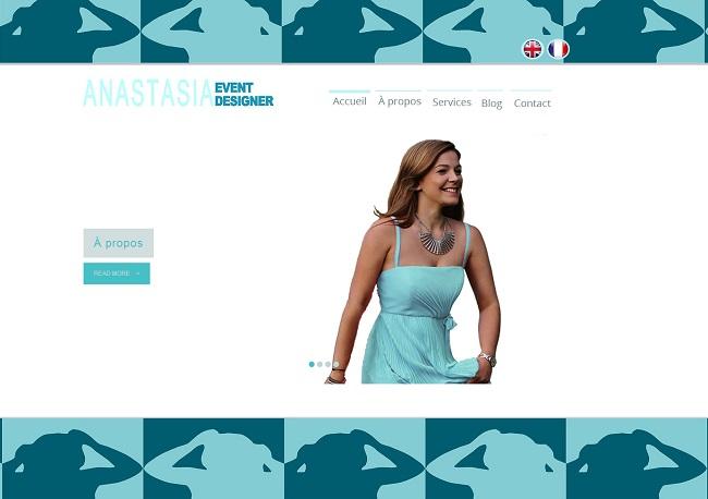Site bilingue d'Anastasia - event designer