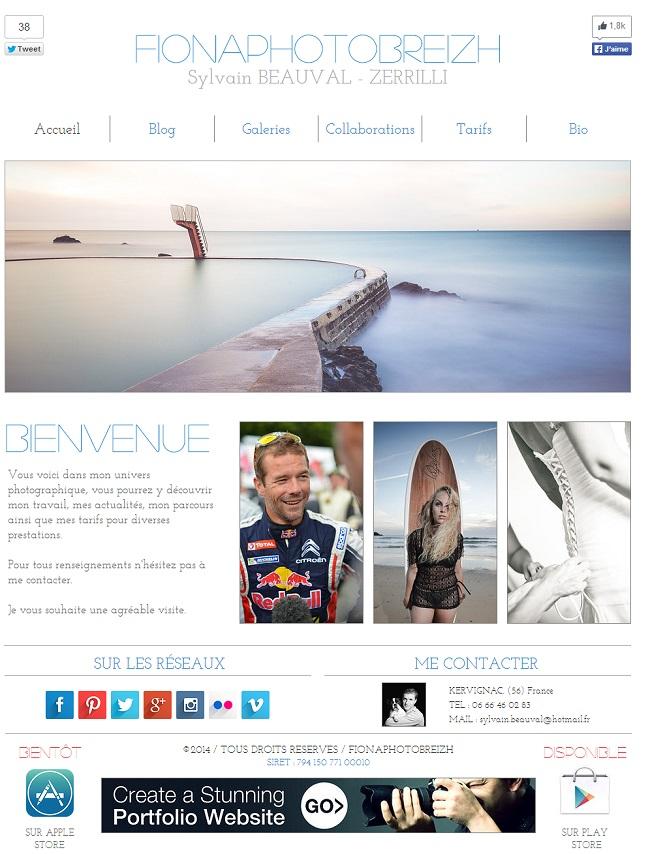 Site de photographie de Sylvain Beauval- Zerrili qui présente ses infos de contact sur toutes les pages